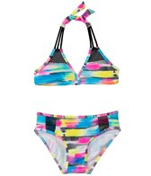 Gossip Girl Girls' Rainbow Checkers Triangle Top Set (7-16)