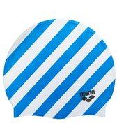 Arena Poolish Striped Silicone Swim Cap