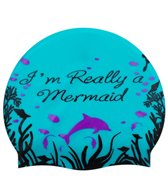 Sporti I'm Really a Mermaid Silicone Swim Cap