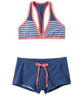 Splendid Venice Sunset Sporty Halter With Boy Short Bottom Set (7yrs-16yrs)