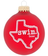 Bay Six Texas State Swim Ornament