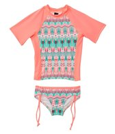 Hurley Girls' Phoenix Surf Rashguard Set (4T-6x)