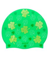 Sporti All Over Clover Silicone Swim Cap