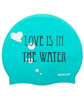 Sporti Love is in the Water Silicone Swim Cap