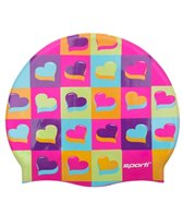 Sporti Pop Love Silicone Swim Cap