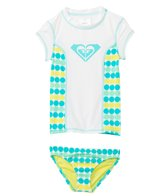 Roxy Kids Girls' Dot Print S/S Rashguard Set (2yrs-7yrs)