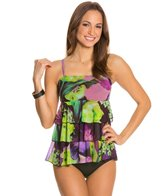 Fit4U Emulsion Mesh Triple Tiered Bandeau Top