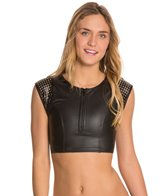 Hurley City Sleek Zip Up Crop Top