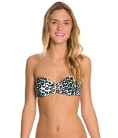 Hurley Raging Roar Push Up Bandeau Bikini Top