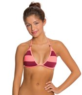 Hurley Tomboy Stripe Reversible Triangle Bikini Top
