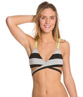 Hurley Tomboy Stripe Lined Wrap Bra Top