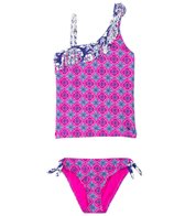 O'Neill Girls' Ocean Fringe Tankini Set (7yrs-14yrs)
