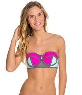 Bikini Lab Sporty Splice Bustier Top