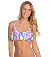 Bikini Lab Live and Let Tie Dye Hanky Flutter Top