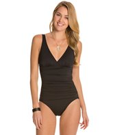 Tommy Bahama Pearl Solids V Neck Scoop Back One Piece