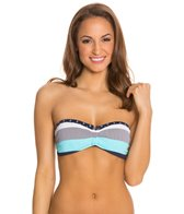 Tommy Bahama Bold Stripe and Mini Anchor V Front Bandeau Bra Bikini Top