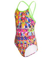Funkita Girl's Speed Beads Diamond Back One Piece Swimsuit (8-14)