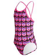 Funkita Girl's Night Owls Diamond Back One Piece Swimsuit (8-14)