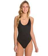 B.Swim Solid Noir The Boss Macrame One Piece