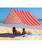Hollie & Harrie French Stripe Red Sombrilla Beach Tent