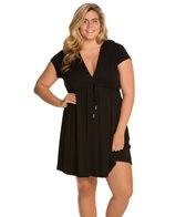 Dotti Plus Size Tropical Punch Hoodie Dress