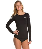 TYR USA Swimming Women's Long Sleeve Swim Shirt
