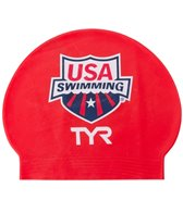 TYR USA Swimming Latex Swim Caps