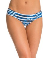 Seafolly Inked Stripe Ruched Side Bikini Bottom