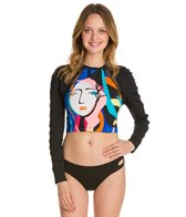 Seafolly Face It L/S Cropped Rash Vest