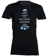 USA Swimming Women's Keep Calm Crew Neck T-Shirt