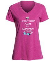 USA Swimming Women's Can't Keep Calm V-Neck T-Shirt
