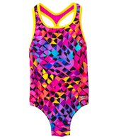 Speedo Girls' Spectrum Split Keyhole One Piece (4yrs-6yrs)