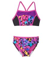 Speedo Girls' Spectrum Split Camikini Two Piece (4yrs-6yrs)