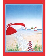 dohler USA Happy Beach Day Beach Towel 58 x 74