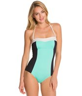Kate Spade Parrot Bay Colorblock Halter One Piece