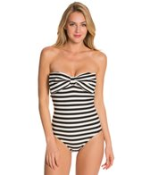 Kate Spade Georgica Beach Stripes Bow Bandeau One Piece