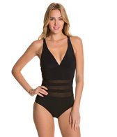 Aerin Rose Jet Underwire Lace Up One Piece