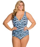 Sunsets Plus Size High Tide Shirred One Piece