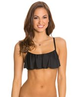Swim Systems Onyx Underwire Flounce Top