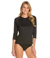 Swim Systems Solid 3/4 Raglan Swim Top