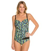 Swim Systems Indio Shirred Underwire Tankini Top