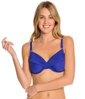 Swim Systems Atlantic Blue Shirred Underwire Tankini Top (D/DD)