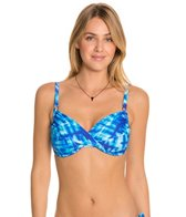 Swim Systems Atlantic Plaid Shirred Underwire Top (D/DD)