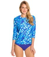 Swim Systems Atlantic Plaid L/S Raglan Swim Top