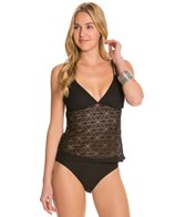 Sunsets Black Sand Crochet Double Strap Tankini Top (D/DD)