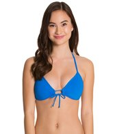 Eidon Solid Summer Triangle Bikini Top