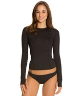 Oakley Women's Black Long Sleeve Rashguard w/ Cuff