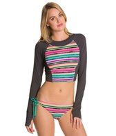 Oakley Women's Infinite Stripe Crop Long Sleeve Rashguard