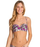 Betsey Johnson Animal Attraction Bump Me Up Underwire Bra Bikini Top