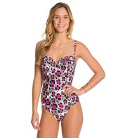 Betsey Johnson Animal Attraction Bump Me Up Underwire One Piece